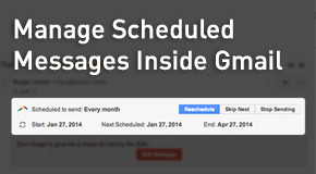 Manage Scheduled Messages Inside Gmail